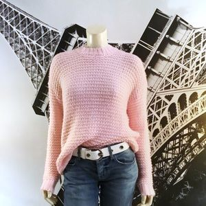 CHELSEA & THEODORE Pink Sweater NWT